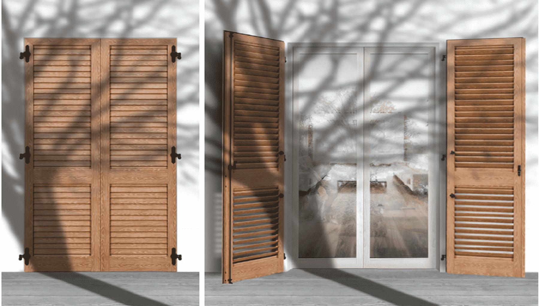 volet battant aluminium var persienne barre et charpe et volet isol. Black Bedroom Furniture Sets. Home Design Ideas